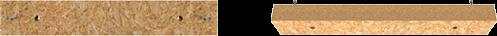 Zestaw elementów: deska – otwory
