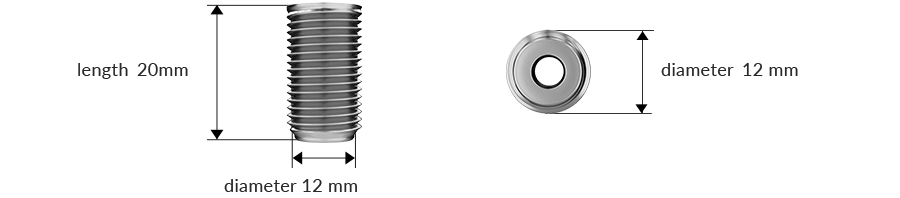 Dimensions of the product: cylindrical piece