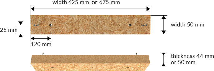 Dimensions of the product: osb board