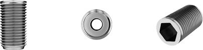 Set of items: cylindrical piece