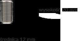 Wymiary produktu: element walcowy - 1