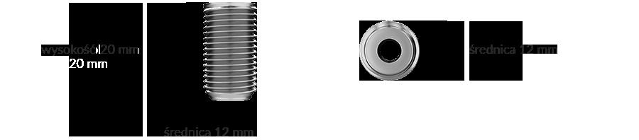 Wymiary produktu: element walcowy